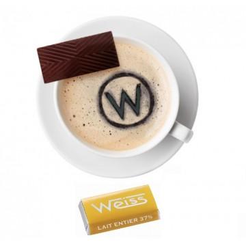 Tasse à café - Napolitain - Chocolat individuel - Chocolat au lait - Lait Entier