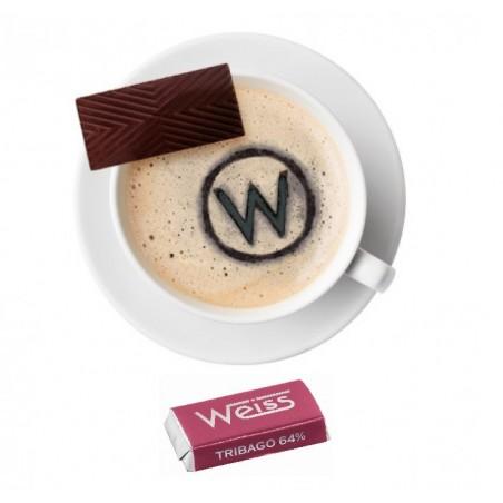Tasse à café - Napolitain - Chocolat individuel - Chocolat noir - Tribago