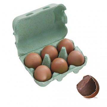 Boîte 6 Oeufs pralinés coquilles - 360g