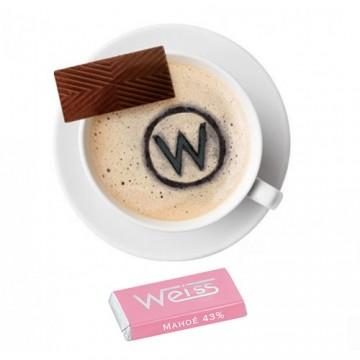 Tasse à café - Napolitain - Chocolat individuel - Chocolat au lait - Mahoë lait