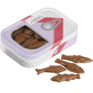 Boîte rose sardines Chocolat lait - 130g
