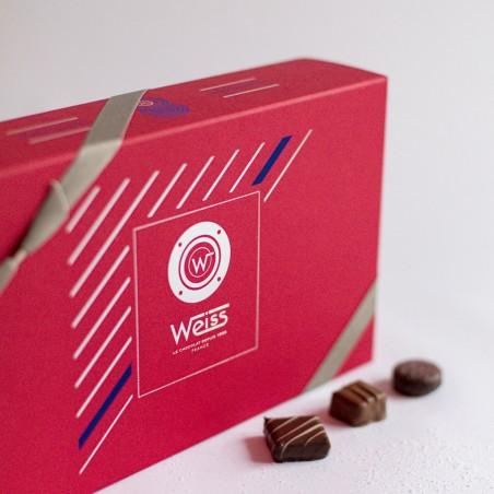 Capitaine - Coffret fermé avec assortiment de chocolats - Coffret cadeau chocolat - Chocolat à offrir