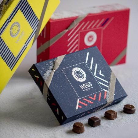 Collection - Coffret fermé avec assortiment de chocolats - Coffret cadeau chocolat - Chocolat à offrir