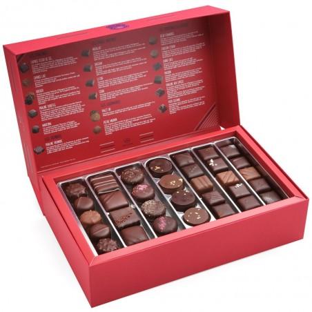 Capitaine - Coffret ouvert avec assortiment de chocolats - Coffret cadeau chocolat - Chocolat à offrir