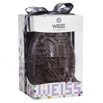 Œuf Weiss - Chocolat de Pâques noir 72% - 500g