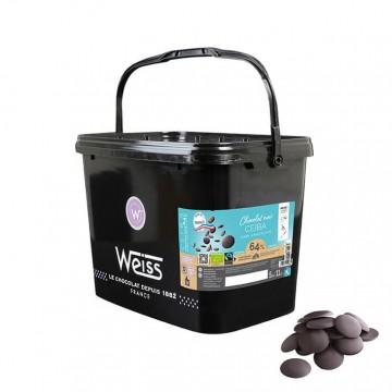 Chocolat de Pâtisserie - Ceiba Noir Bio et équitable  64% - 5KG