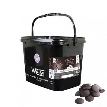 Chocolat de Pâtisserie - Noir Ebène 72% à Pâtisser - 5KG