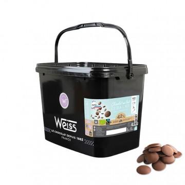 Chocolat de Pâtisserie Ceiba Lait Bio et Equitable 42% - 5Kg