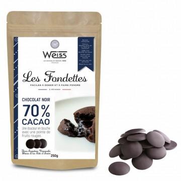 Chocolat à pâtisser noir 70% - 250g