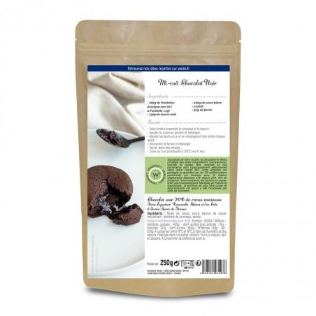 Chocolat noir à pâtisser - Packaging fermé - Dos - Recette mi cuit