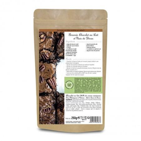 Chocolat au lait à pâtisser - Packaging fermé - Dos - Recette brownie