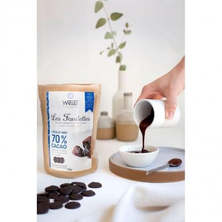 Chocolat noir à pâtisser - Packaging fermé - Pastilles chocolat noir - Chocolat noir fondu