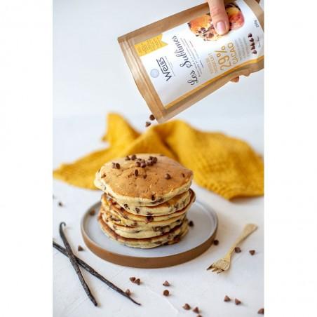 Pépite de chocolat au lait à pâtisser - Packaging ouvert - Pancakes aux pépite de chocolat