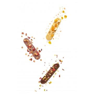 Choc'ines - Langues de chat - Chocolat noir - Chocolat lait - Chocolat blond - Coffret à offrir