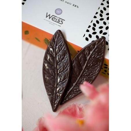 Feuilles chocolat - Chocolat individuel - Chocolat noir - Coffret à offrir