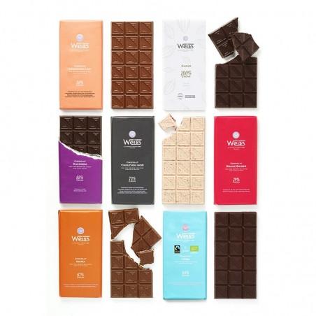 Tablette de chocolat-Gamme de Tablette-Chocolat Lait-Chocolat Noir-Chocolat Blanc