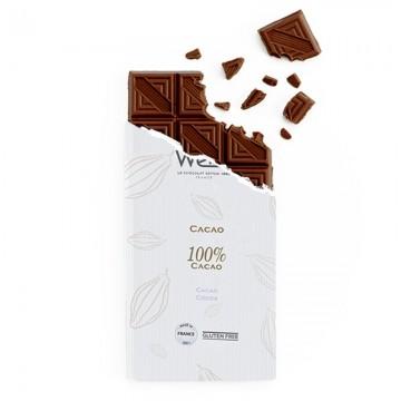 Tablette - Chocolat  noir 100% Cacao - 100g