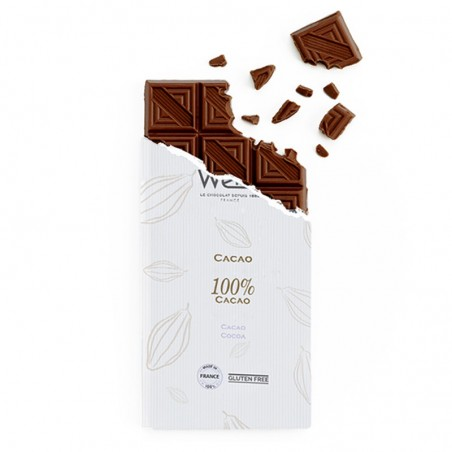 Tablette de chocolat-Chocolat croqué-Chocolat noir-Chocolat noir 100% Cacao-Chocolat noir le plus fort