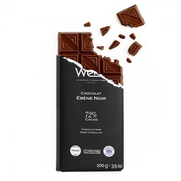 Tablette de chocolat-Chocolat croqué-Chocolat noir-Ebène
