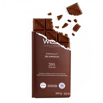 Tablette de chocolat-Chocolat croqué-Chocolat noir-Acarigua