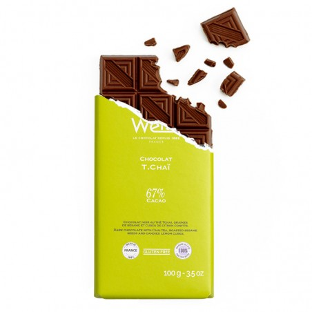 Tablette de chocolat-Chocolat croqué-Chocolat noir-Tchai