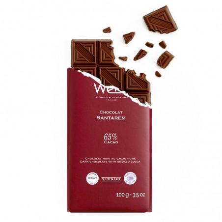 Tablette de chocolat-Chocolat croqué-Chocolat noir-Santarem-Notes Fumées