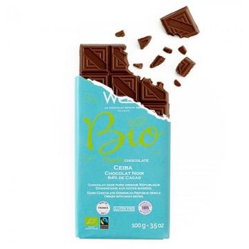 Tablette de chocolat-Chocolat croqué-Chocolat noir-Pure origine-République dominicaine-Ceïba-Bio-Equitable