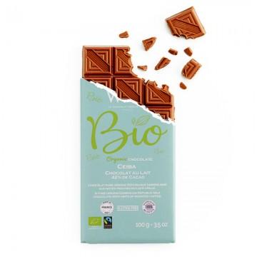 Tablette - Chocolat Lait Ceïba bio et équitable 42% - 100g