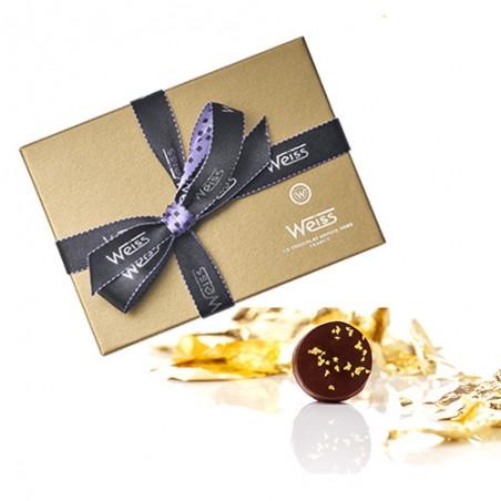 Ballotin Palets Or - Boîte fermée - Chocolat Palet Or - Feuille d'or