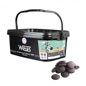 Chocolat de pâtisserie - Noir Li Chu 64% - 1,8kg
