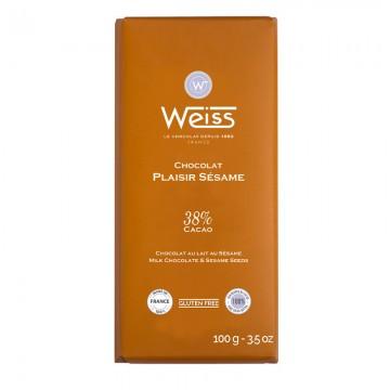 Tablette de chocolat-Chocolat Lait-Plaisir Sésame