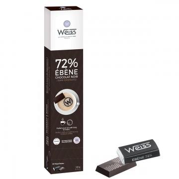 Napolitains - Chocolat individuel - Chocolats noir Distributeur - Ebène