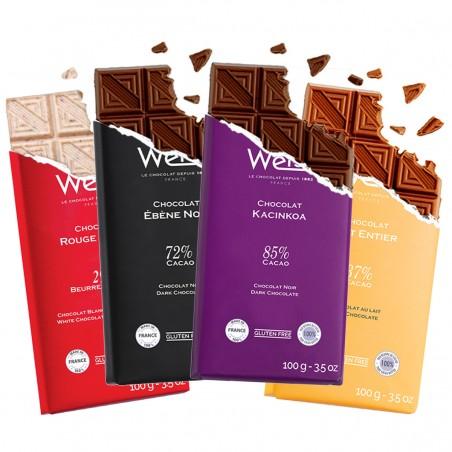Tablette de chocolat-Gamme de Tablette-Chocolat à Offrir-Coffret à Offrir-Chocolat Lait-Chocolat Noir-Chocolat Blanc-chocothèque