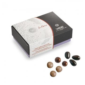Ballotin de chocolat - assortiment de turbinés - Chocolat noir - chocolat lait- chocolat blond - coffret à offrir