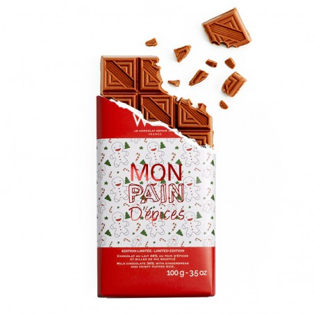 Tablette de chocolat-Chocolat Lait- Chocolat à croquer- Chocolat pour Noël-Tablette Chocolat à Offrir-Chocolat à offrir