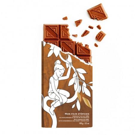 Tablette de chocolat - chocolat pain d'épice - chocolat édition limitée - chocolat croquer - Lucie Albon - chocolat de Noël