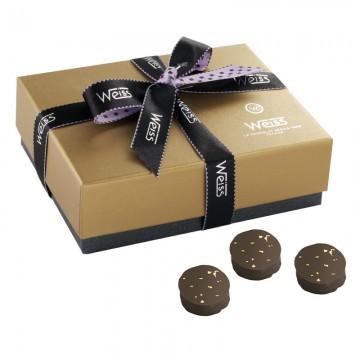 Ballotin de chocolat - Palets Or - Boîte fermée - Coffret cadeau chocolat - Chocolat à offrir - Chocolat noir