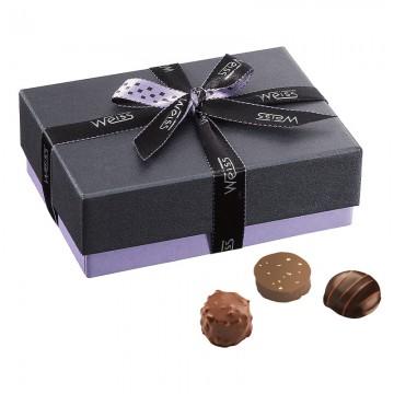 Ballotin Chocolats et Pralinés  - Boîte fermé avec assortiment chocolats - Coffret cadeau chocolat - Chocolat à offrir