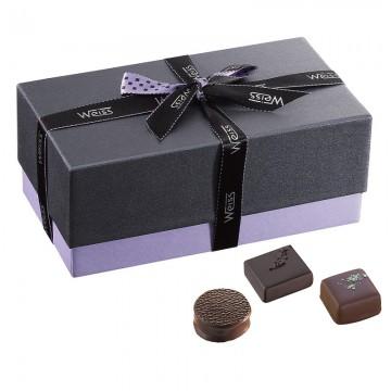 Ballotin de chocolat et praliné - Boîte fermé avec assortiment de chocolats - Coffret cadeau chocolat - Chocolat à offrir