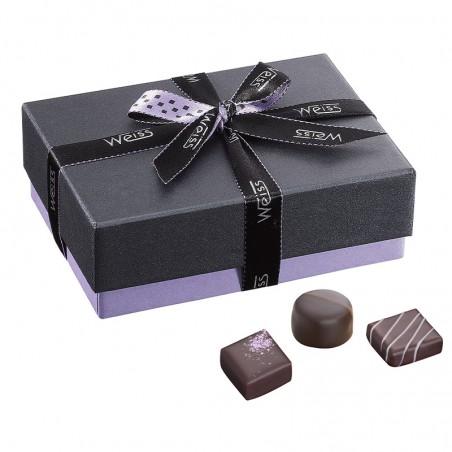 Ballotin de chocolat praliné - Boîte fermé avec assortiment de chocolats - Coffret cadeau chocolat - Chocolat à offrir