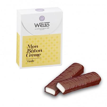 Bâton crème vanille- Bâton chocolat - Chocolat individuel - Chocolat noir - Coffret à offrir - chocolat à offrir