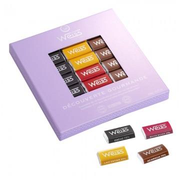 Coffret napolitains gourmands  fermé - Chocolats individuels - Découverte gourmande