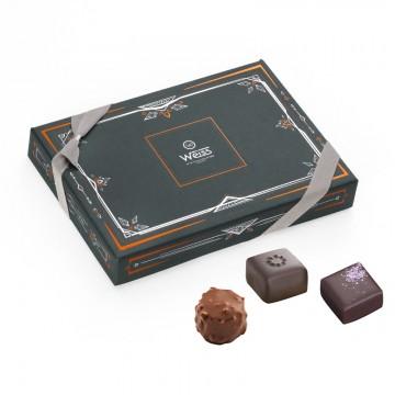 W1 - Coffret fermé avec assortiment de chocolats - Coffret cadeau chocolat - Chocolat à offrir