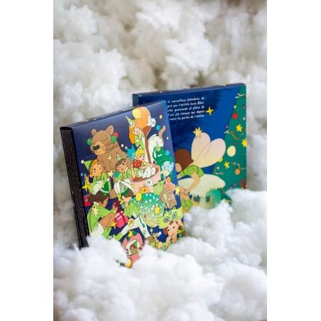 Calendrier de l'avent - chocolat de noël - assortiment de chocolat - Lucie Albon - Illustration - chocolat enfant - nuage
