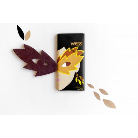 Tablette de chocolat - Chocolat noir - Chocolat 100% cacao - Ambiance -chocolat de Noël - Chocolat à offrir- Lucie Albon