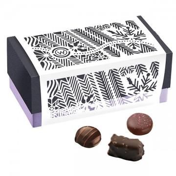 Ballotin de chocolat et praliné - Ballotin festif fermé - Chocolat à offrir -chocolat de noël