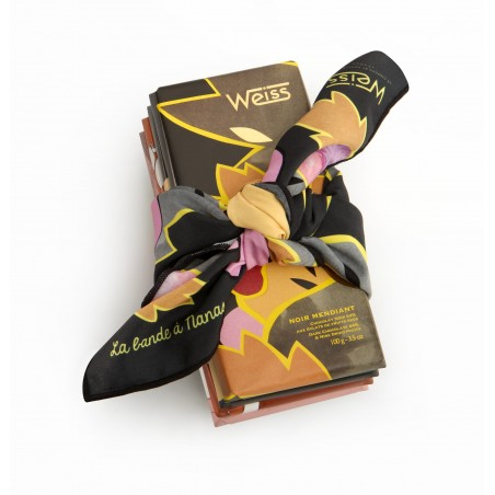 Tablette de chocolat - assortiment de chocolat - Ruban - illustration - Lucie Albon