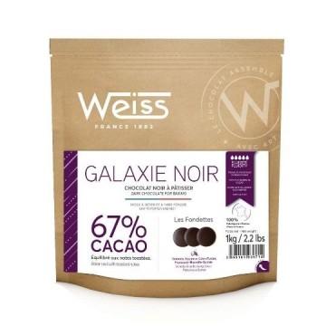 Cooking 1kg - chocolat galaxie noir