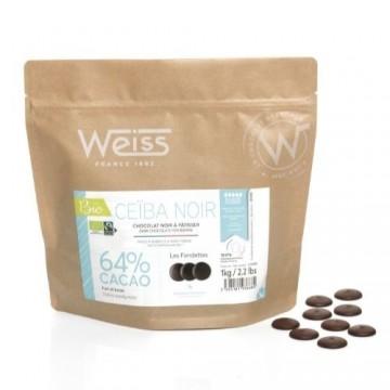 Chocolat à pâtisser - Noir Ceïba 64% - Bio & Equitable - 1kg