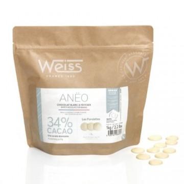 Chocolat à pâtisser - Blanc Anëo 34% - 1kg